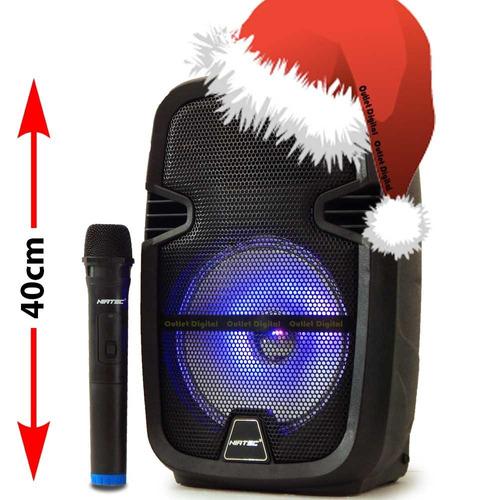 parlante bluetooth niatec con batería recargable y microfono