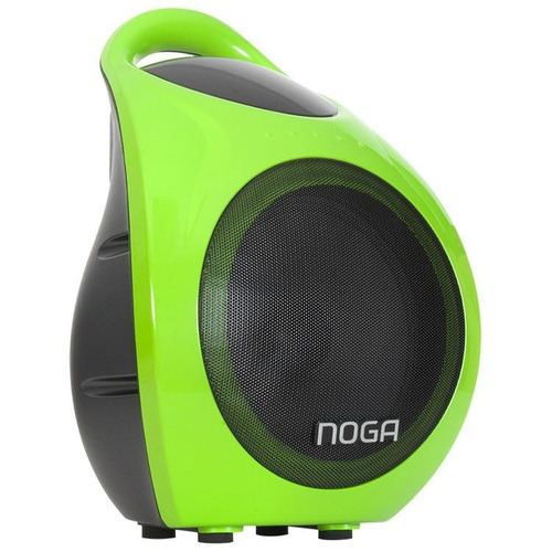 parlante bluetooth noganet karaoke f905 15w mp3 6  led bater