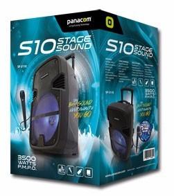 parlante bluetooth panacom recargable microfono karaoke