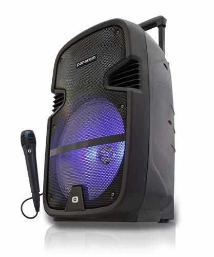 parlante bluetooth panacom recargable microfono karaoke n2m