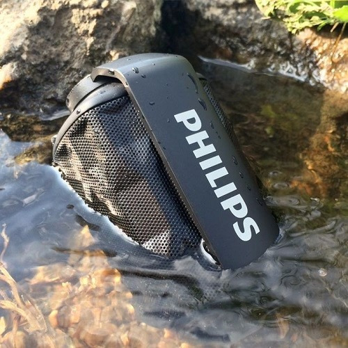 parlante bluetooth philips bt2200 shoqbox resistente al agua