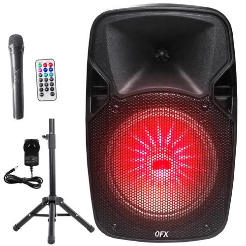 parlante bluetooth portátil 4500 w trípode + mic inalámbrico