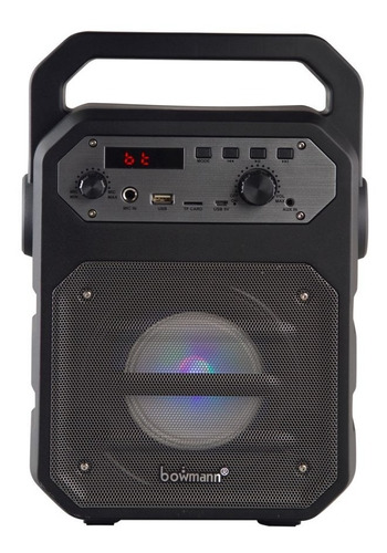 parlante bluetooth portátil con microfono bowmann bts-250k