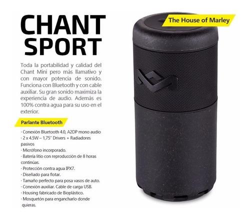parlante bluetooth portátil house of marley chant sport