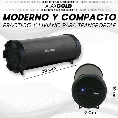 parlante bluetooth portatil kolke usb musica sd 10w canyon