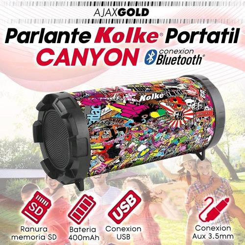 parlante bluetooth portatil kolke usb musica sd 10w canyon