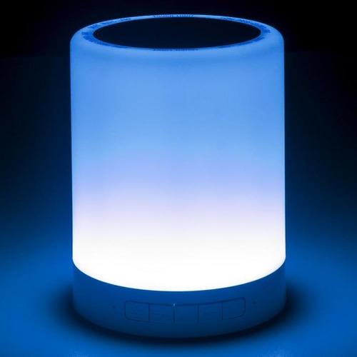 parlante bluetooth portatil lampara velador led noga ng-lamp