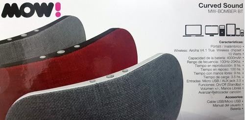 parlante bluetooth portatil mow bomber bt curved