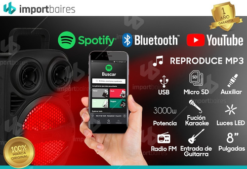 parlante bluetooth portatil usb mp3 celular notebook tablet