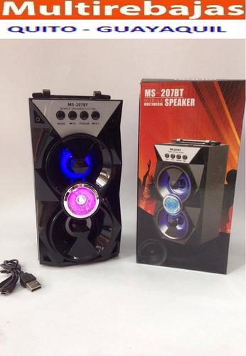parlante bluetooth recargable fm microsd e usb amplificador*