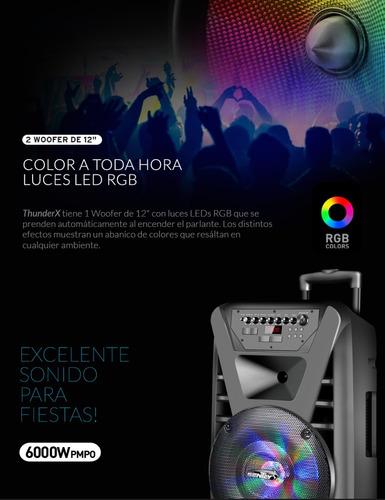 parlante bluetooth sentey thunderx portatil fm mic 6000 pmpo