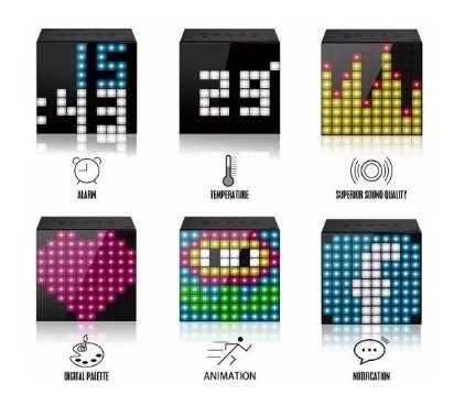 parlante bluetooth smart led programable divoom timebox-mini
