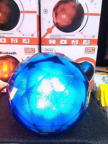 parlante bluetooth spg-002 efectos luminos minimalista