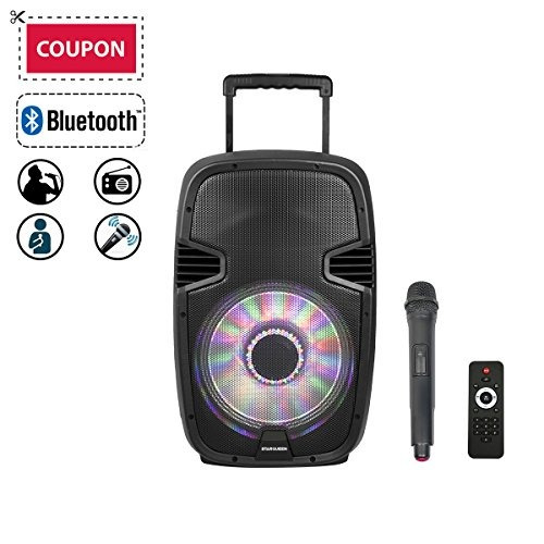 parlante bluetooth starqueen 12  wireless  portable , pa sys