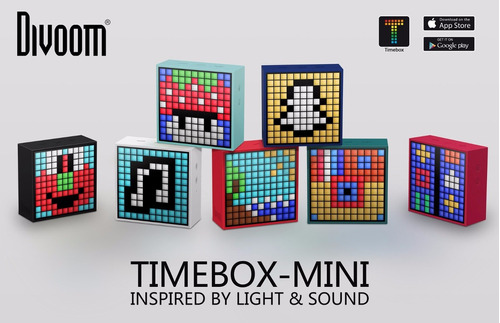 parlante bluetooth timebox mini divoom 5w sellado