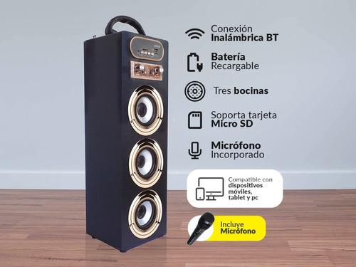 parlante bluetooth torre portátil sonido potente + micrófono