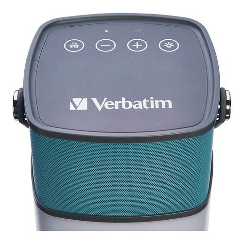parlante bluetooth verbatim 2 en 1 led resistente al agua