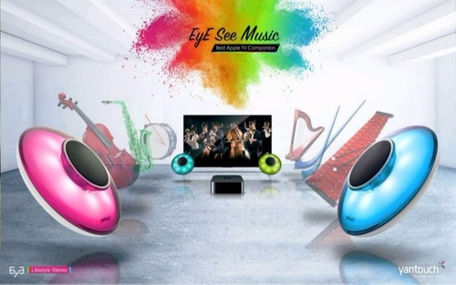 parlante bluetooth yantouch eye hue dj luces