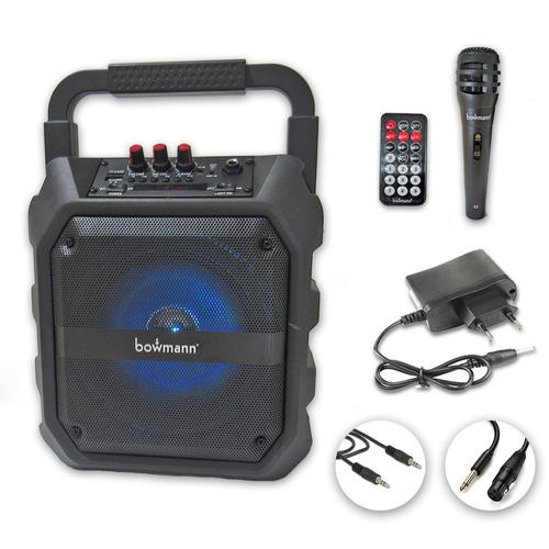 parlante bowmann karaoke bluetooth+microfono 21294 fernapet