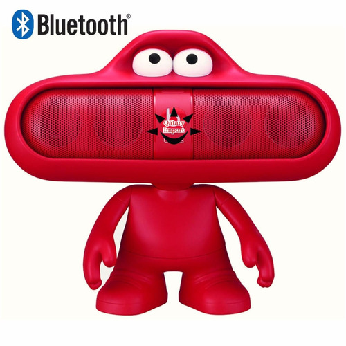 parlante bt bluetooth pill mp3 radio fm muñeco dude rosado