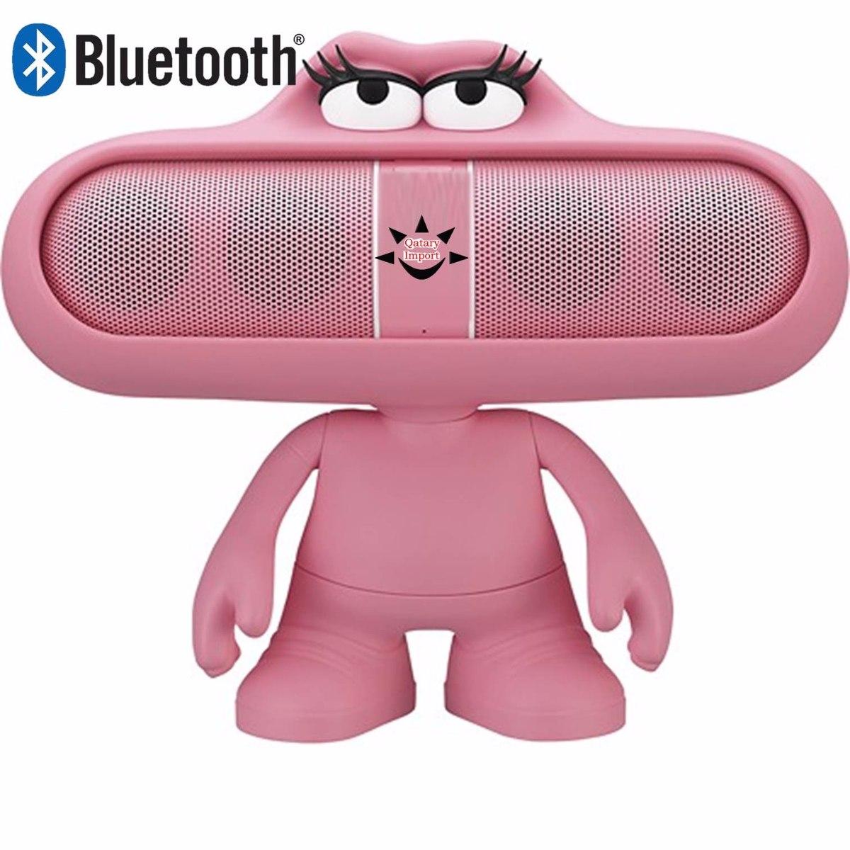 parlante bt bluetooth pill mp3 radio fm muñeco dude rosado