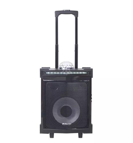 parlante carry on philco djp85bt c/ luces ritmicas