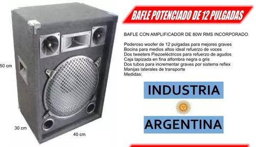 parlante con amplificador + consola con usb + microfono