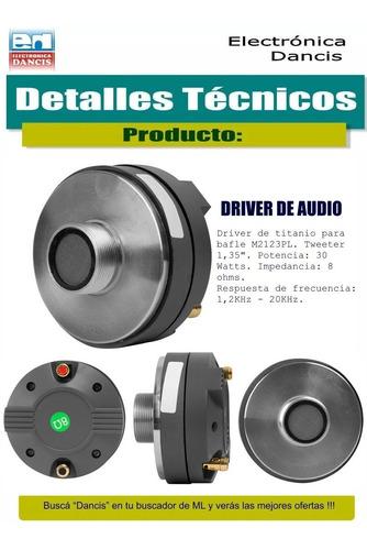 parlante de 15 pulgadas ala de tela + driver de titanio kit