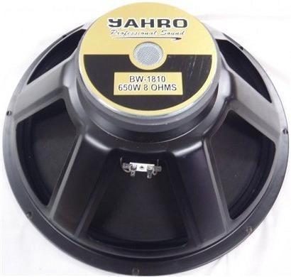 parlante de 18 audio profesional jahro 650w max 8 ohms