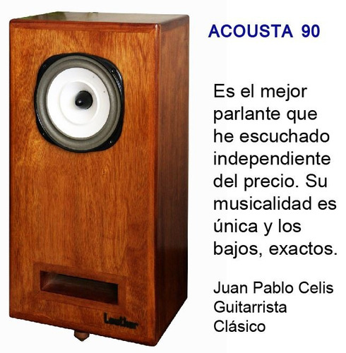 parlante full-range lowther con dx-2 diferente bw, kef, jbl