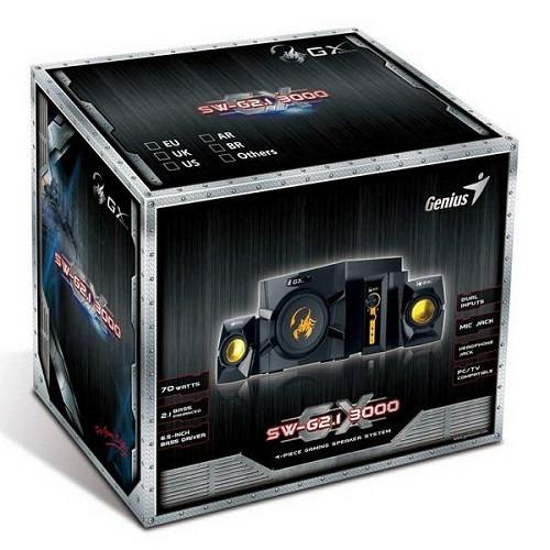 parlante gamer 2.1 genius gx sw-g2.1 3000 potencia: 70 rms