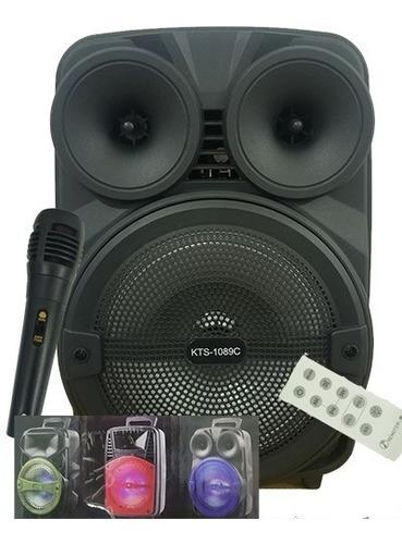 parlante inalambrico 8  microfono/fm/remoto super sonido