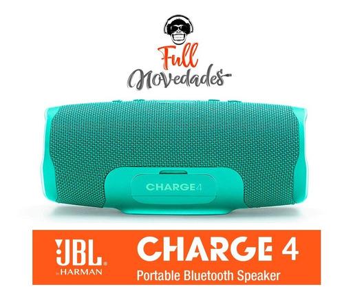 parlante jbl charge 4 acuatico 30w bluetooth portatil harman