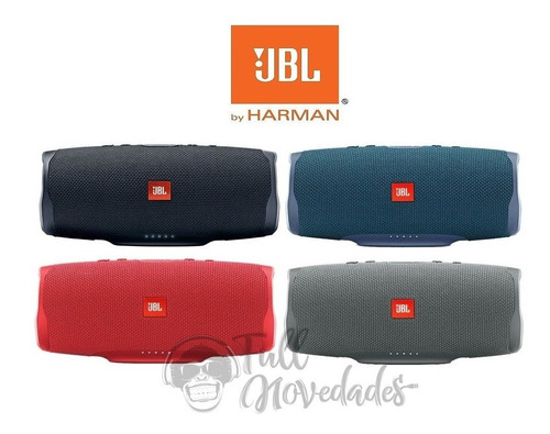 parlante jbl charge 4 acuatico bluetooth portatil - colores