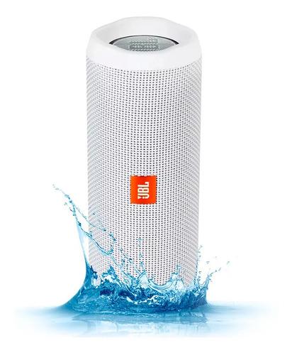 parlante jbl flip 4 blanco bluetooth waterproof bateria 12h
