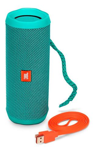 parlante jbl flip 4 verde azulado bluetooth sumergible bater