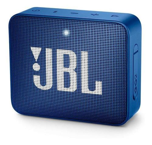 parlante jbl go 2 portable bluetooth ipx7 azul profundo