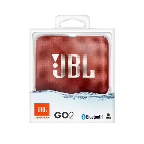 parlante jbl go 2 portátil bluetooth rojo