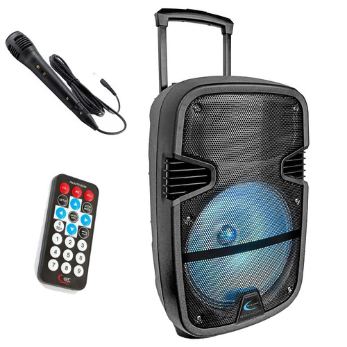 parlante karaoke 12 portatil bluetooth microfono led 2019