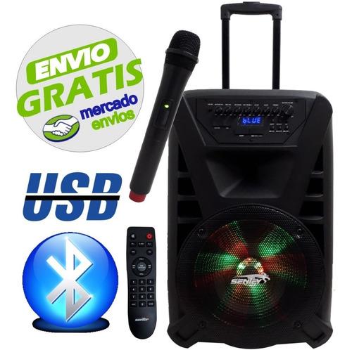 parlante karaoke 3 canales bluetooth usb sentey thunder x - cuotas