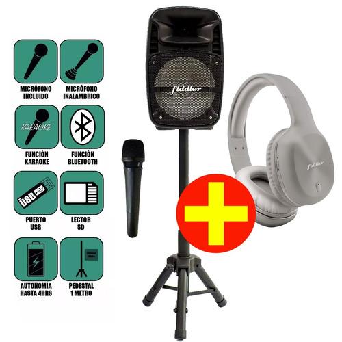 parlante karaoke 8 pulgadas con atril recargable bluetooth