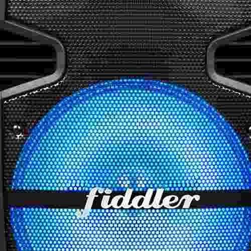 parlante karaoke bluetooth fiddler negro + micrófono