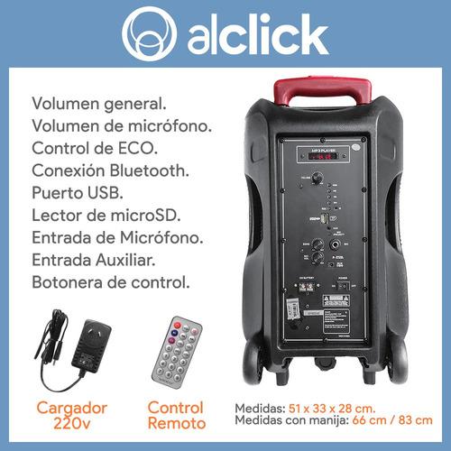 parlante karaoke bluetooth grande control remoto + micrófono