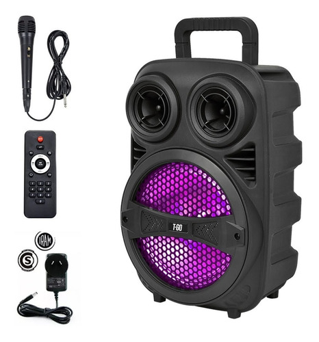 parlante karaoke bluetooth potente 3000wts luces + micrófono