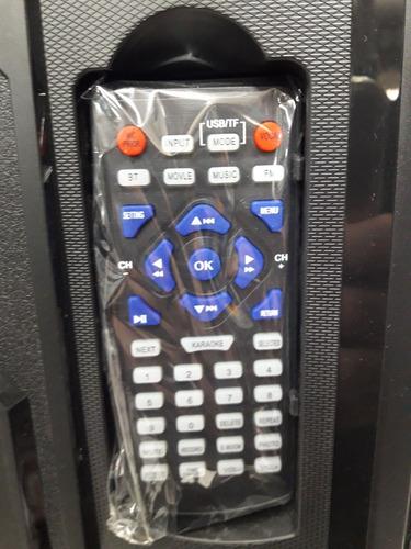 parlante karaoke con pantalla kc-19k08+tripode+mic inalam.