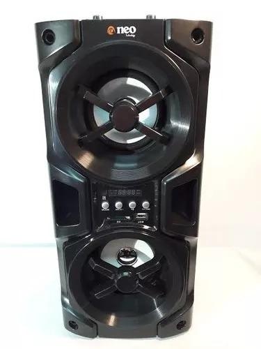 parlante karaoke neo nv-wsp510 fm/sd/usb/aux 2entr mic 3600w