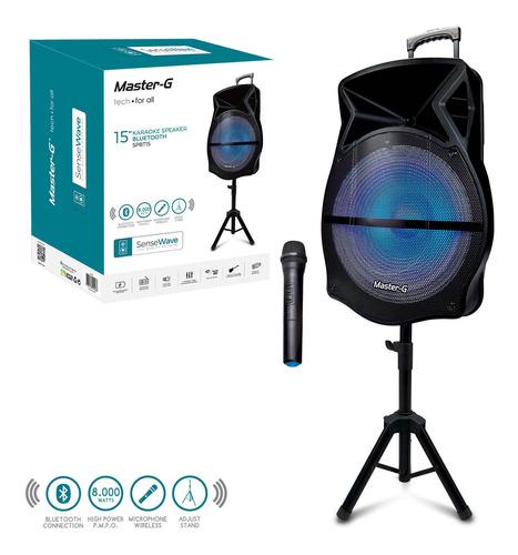 parlante karaoke portátil bluetooth master g + atril + micró