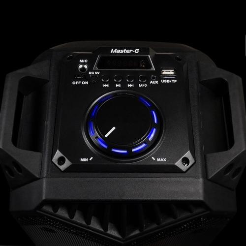 parlante karaoke portátil bluetooth master g + micrófono
