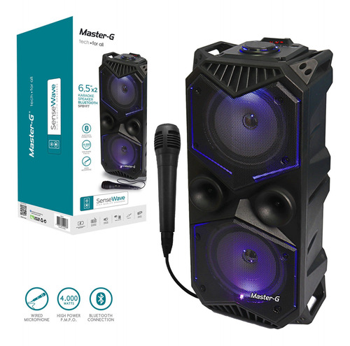 parlante karaoke portátil bluetooth yf7 master g + micrófono