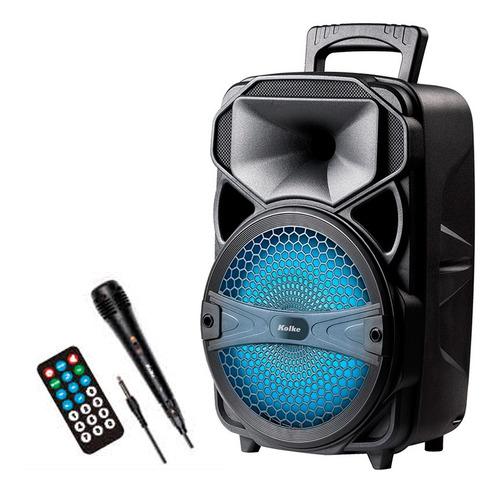 parlante kolke kpb 373 loud 8 micrófono usb sd luces led